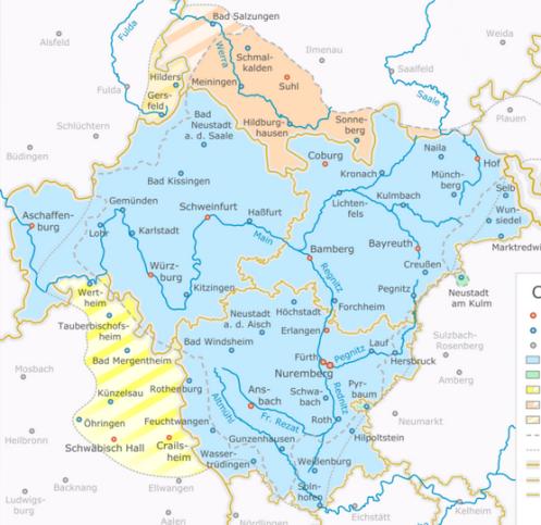 Modern-day Franconia (courtesy of