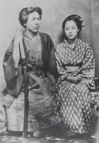 Takako Mise with her husband