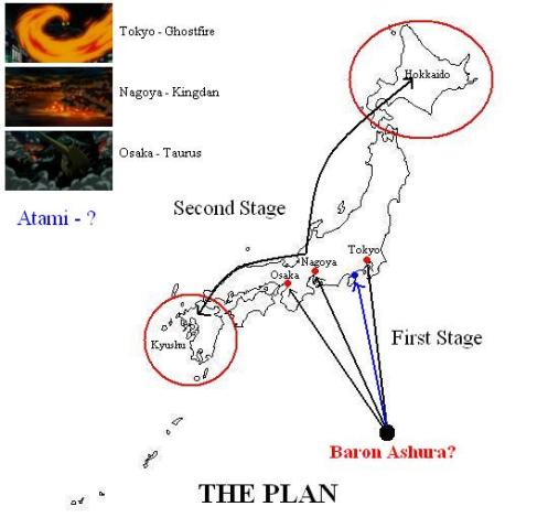 Location of Ashura is pure speculation on my part...